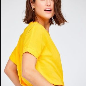 Callahan Chelsea Pocket Canary Top Tee Shirt